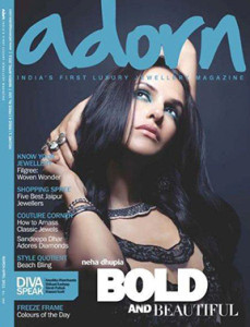 Neha Dhupia on the Cover of Adorn Magazine